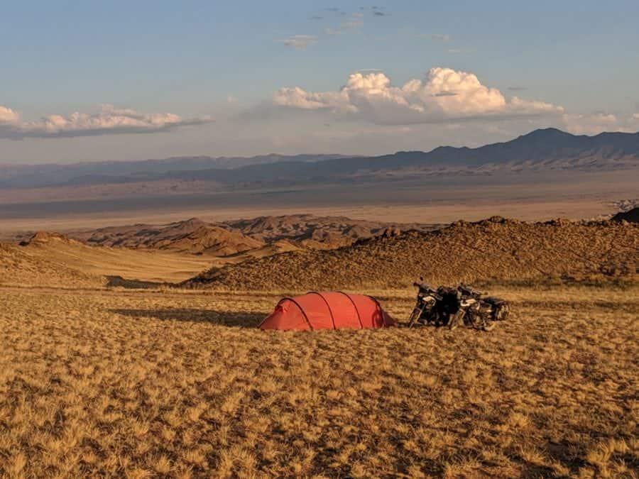 Camping in Charyn Canyon in Kazakhstan
