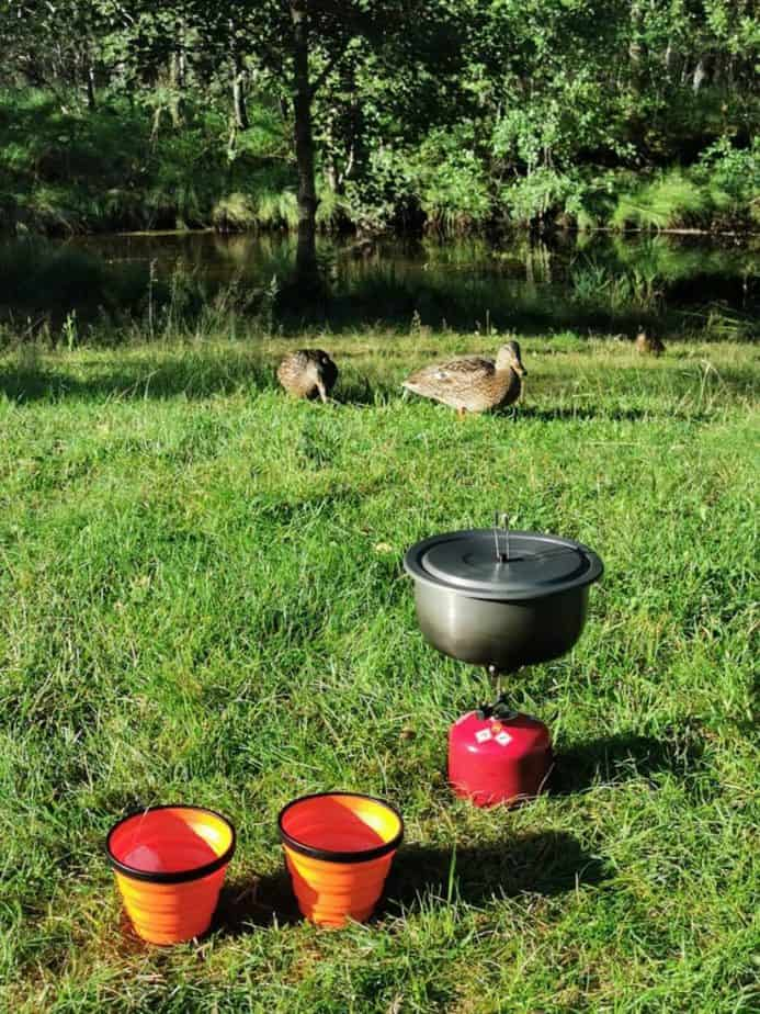 Breakfast visit to the campsite in Norway