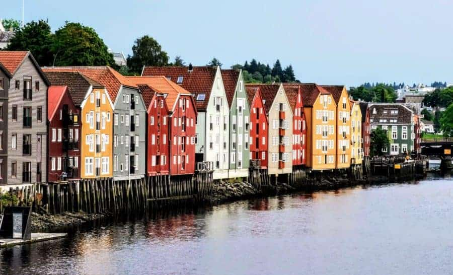 Traditional warehouses in Trondheim